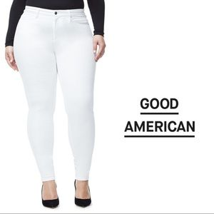 Good American Size 14 White High Rise Jeans